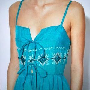 Karen Zambos Teal Maxi Dress